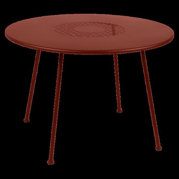 Table Ø 110 cm lorette ocre rouge