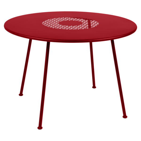 Table Ø 110 cm lorette coquelicot