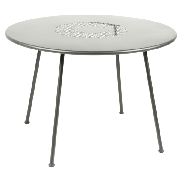 Table Ø 110 cm lorette gris métal