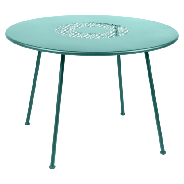 Table Ø 110 cm bleu lagune