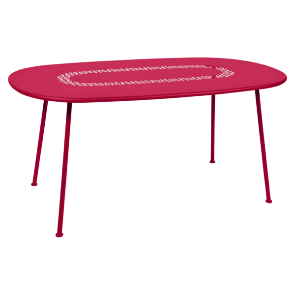 Table ovale Lorette rose praline