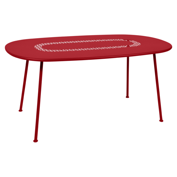 Table Ovale Lorette  coquelicot