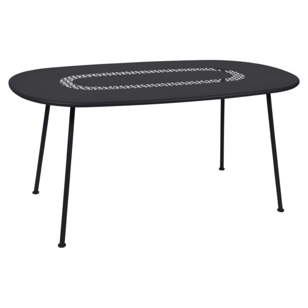 Table ovale Lorette reglisse