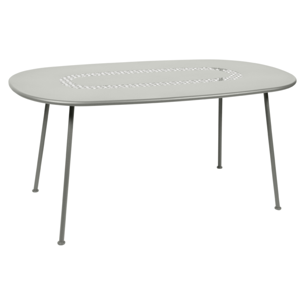 Table Ovale Lorette gris metal