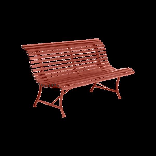 Banc 150 cm louisiane ocre rouge