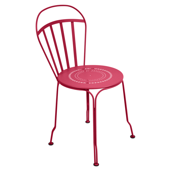 chaise metal, chaise fermob, chaise de jardin, chaise rose