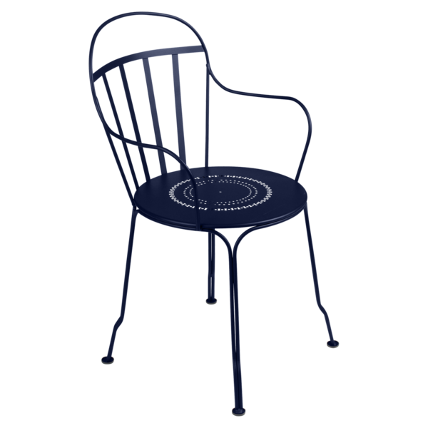 chaise metal, chaise fermob, chaise de jardin, chaise bleu