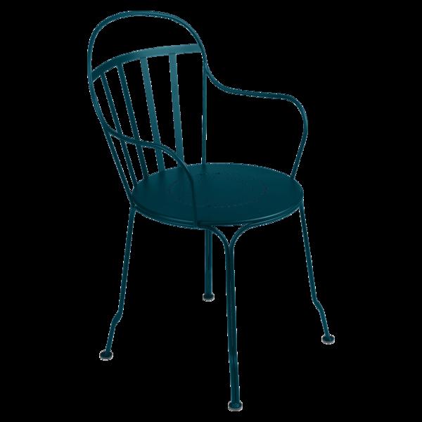 Fauteuil louvre bleu acapulco