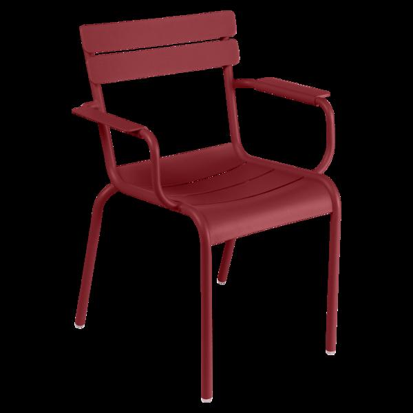 fauteuil de terrasse rouge