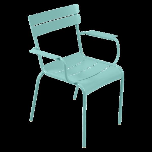 fauteuil de terrasse bleu