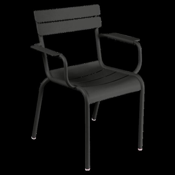 fauteuil de terrasse noir