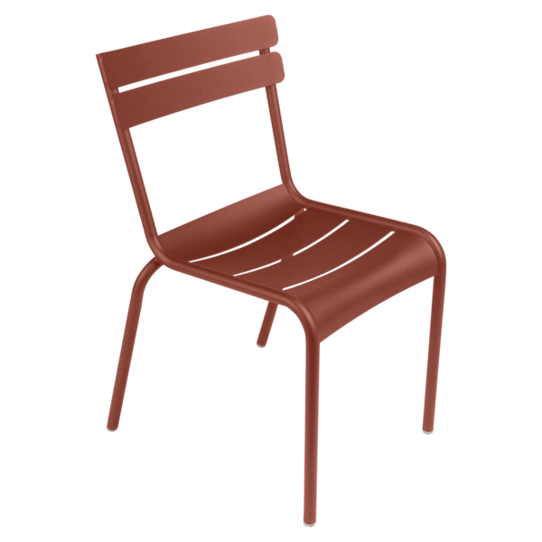 Chaise luxembourg ocre rouge