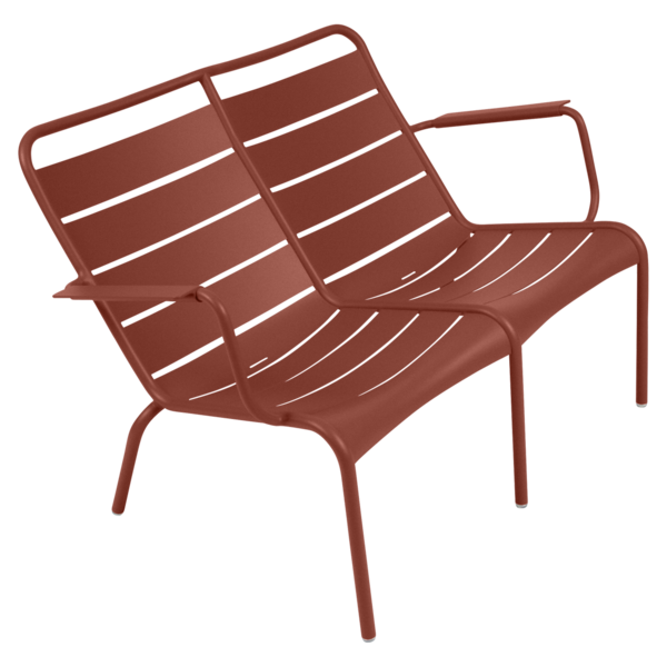 Fauteuil bas duo luxembourg ocre rouge
