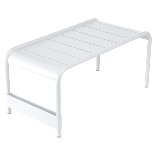 table basse metal, table basse fermob, table basse blanche, banc de jardin, salon de jardin