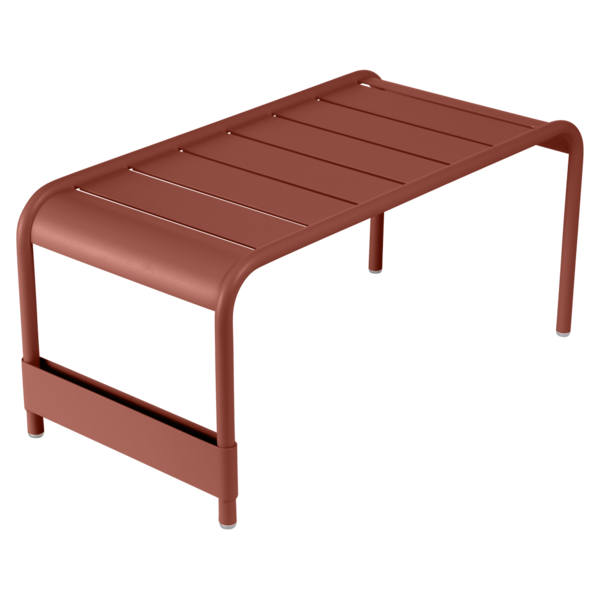 Grande table basse / Banc luxembourg ocre rouge