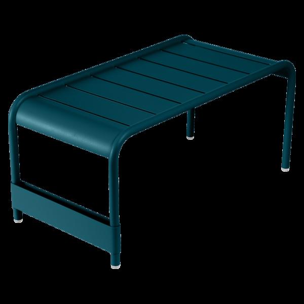 Grande table basse / Banc luxembourg bleu acapulco