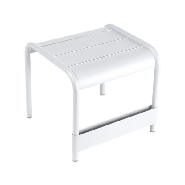 petite table basse, table basse metal, repose pied, table basse fermob, table basse blanche