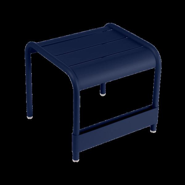 petite table basse, table basse metal, repose pied, table basse fermob, table basse bleu