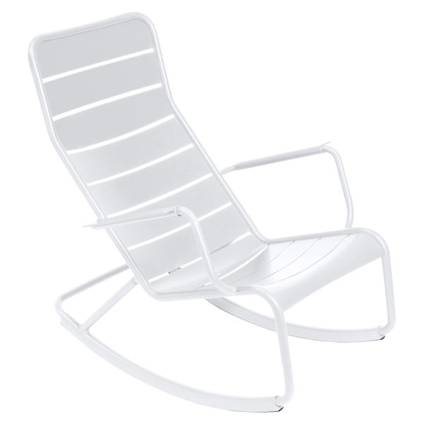 fauteuil de jardin, rocking chair metal, salon de jardin, rocking chair blanc