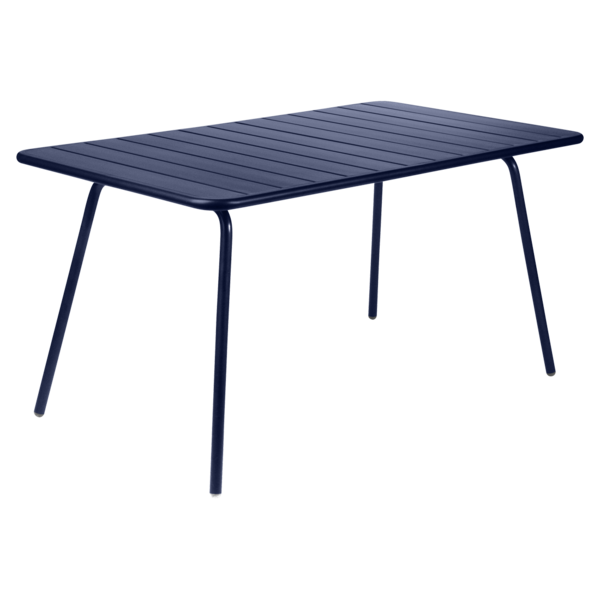 table de jardin, table metal, table fermob, table bleu
