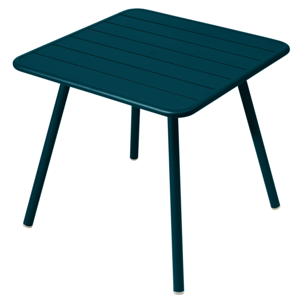 Table 80 x 80 cm - 4 pieds luxembourg bleu acapulco