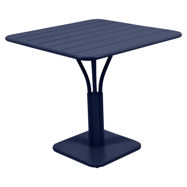 table de jardin, table metal, petite table, table bleu