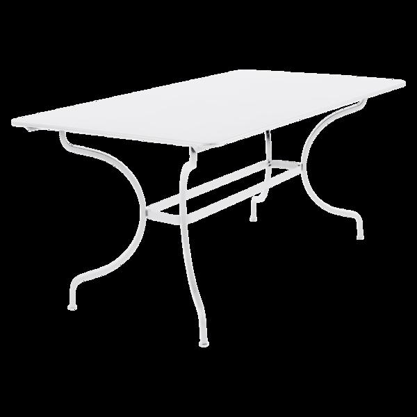 table de jardin, table metal, table rectangulaire, table blanche