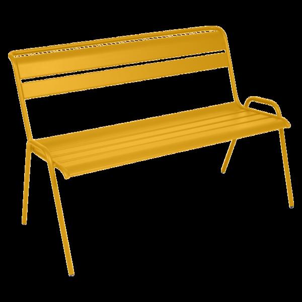 Banc de jardin jaune miel Monceau