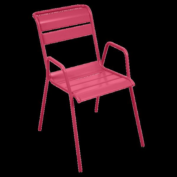 chaise metal, chaise de jardin, chaise rose