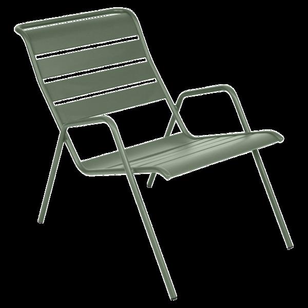 Fauteuil bas Monceau, fauteuil de jardin pour salon de jardin