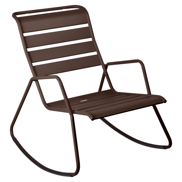 rocking chair metal, rocking chair fermob, rocking chair jardin, rocking chair marron