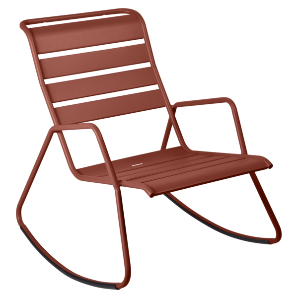 Rocking chair monceau ocre rouge