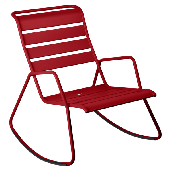 rocking chair metal, rocking chair fermob, rocking chair jardin, rocking chair rouge