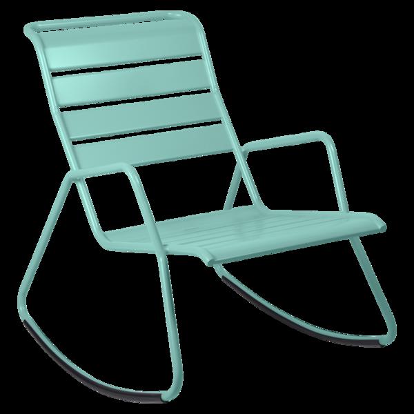 rocking chair metal, rocking chair fermob, rocking chair jardin, rocking chair bleu