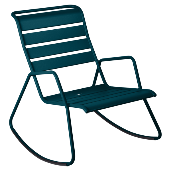 Rocking chair monceau bleu acapulco