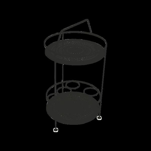 gueridon metal, bar portatif, gueridon fermob, gueridon noir