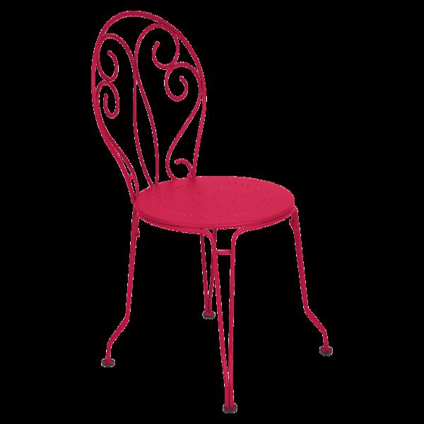 chaise metal, chaise de jardin, chaise a volute, chaise rose
