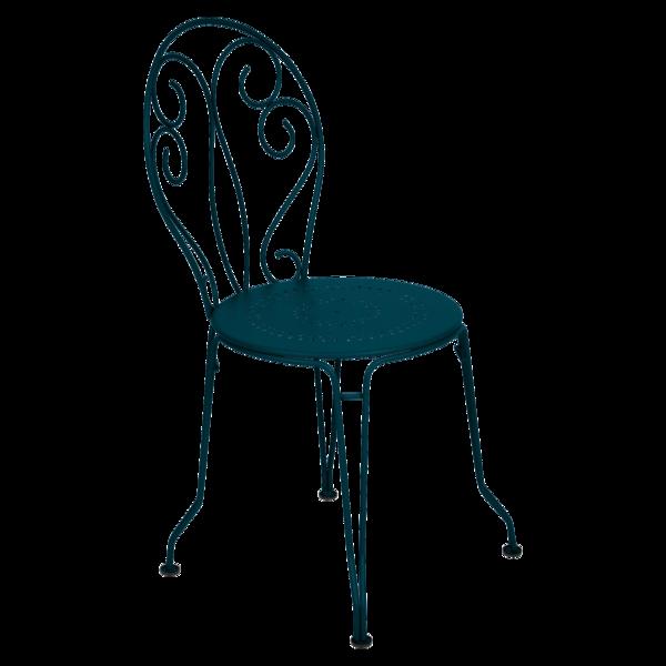 Chaise montmartre bleu acapulco