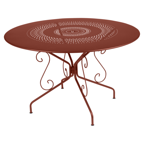 Table Ø 117 cm montmartre ocre rouge