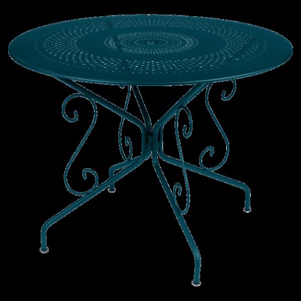 Table Ø 96 cm montmartre bleu acapulco