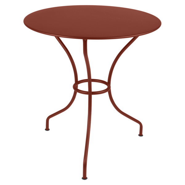 Table Ø 67 cm opéra ocre rouge