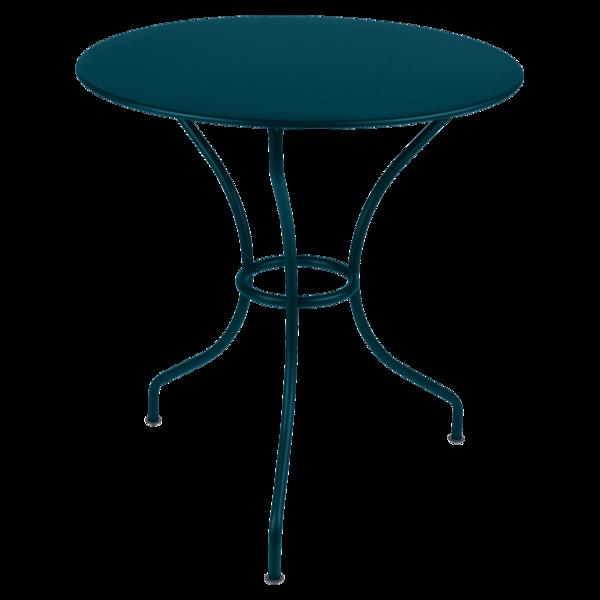 Table Ø 67 cm opéra bleu acapulco