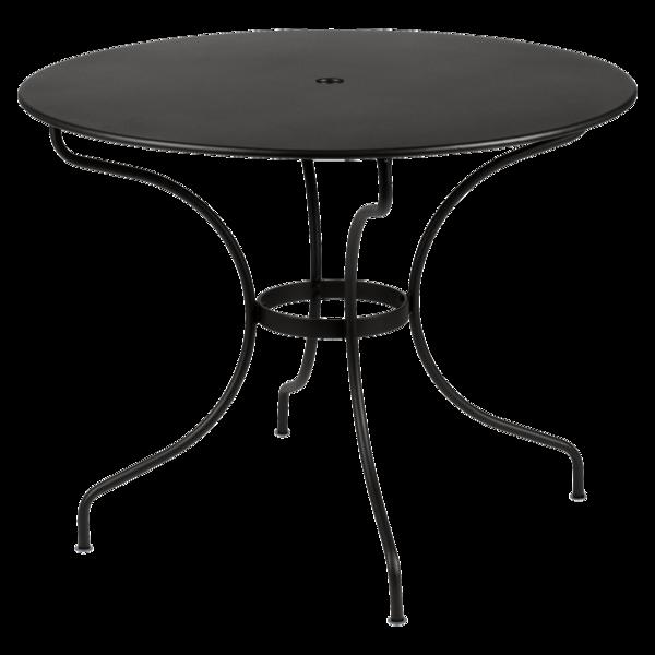 Table ronde 96 cm Opéra, table de jardin metal, table jardin 4 personnes
