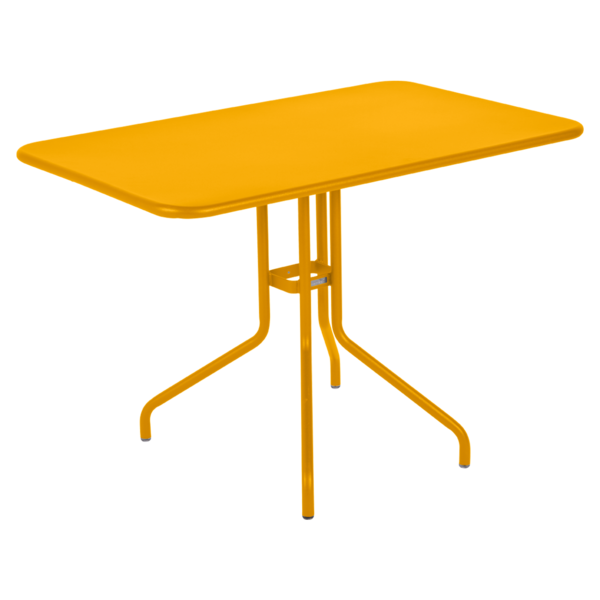 table restaurant, table terrasse, table metal, table pliante metal, mobilier restaurant, table pliante jaune