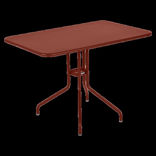 Table 110 x 70 cm petale ocre rouge