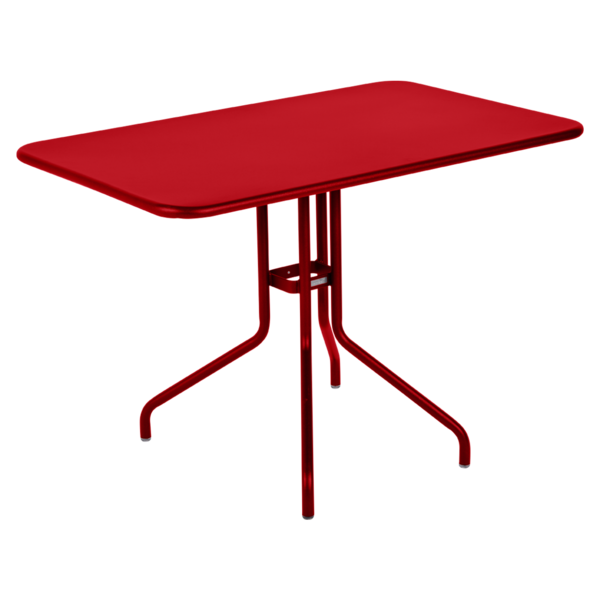table restaurant, table terrasse, table metal, table pliante metal, mobilier restaurant, table pliante rouge