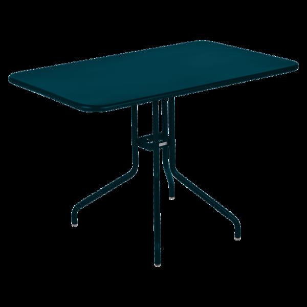 Table 110 x 70 cm pétale bleu acapulco
