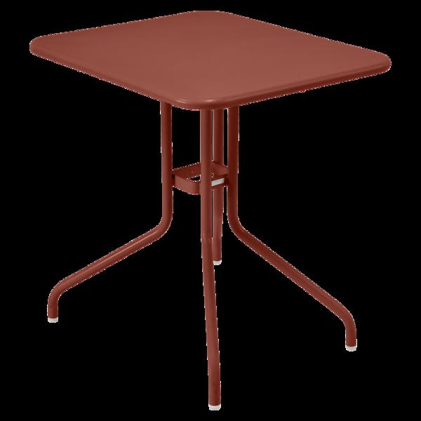 Table 60 x 70 cm petale ocre rouge