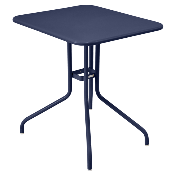 table restaurant, table terrasse, table metal, table pliante metal, mobilier restaurant, table pliante bleu