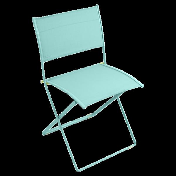 chaise en toile bleue